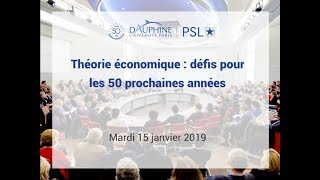 Recherche en économie : quels défis pour les 50 prochaines années ?