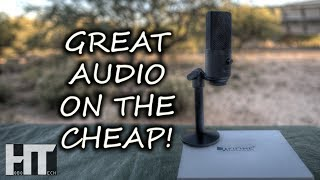 BUDGET Portable USB Microphone For YouTube Podcasting Live Streaming! FIFINE K670 Review