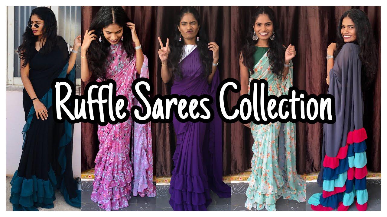 Ruffle Sarees Collection | Store New Collection  | nayalooks | Navya Varma