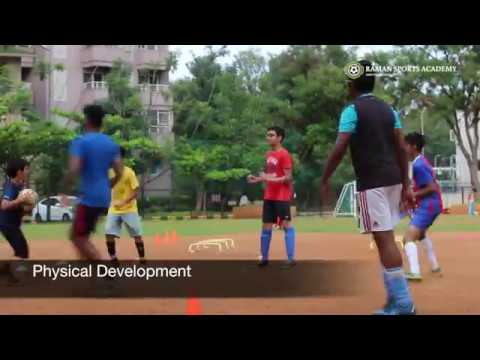Football coaching at Raman Sports Academy, Bangalore