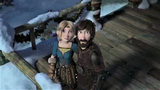 Hiccup & Astrid Sąy Good Bye Toothless - How to Train Your Dragon Homecoming - Happy Ending Scene
