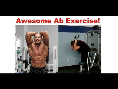 Awesome Ab Exercise - Pull Down Cable Crunch