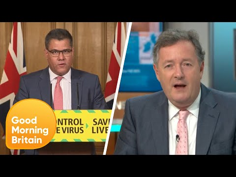Piers Calls Out Alok Sharma for Lying on the BBC about Coronavirus Testing | Good Morning Britain