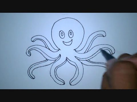 How To Draw An Octopus Cartoon Version Youtube