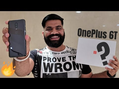 OnePlus 6T Unboxing & First Look - The Beautiful Beast - Surprises Coming Soon🔥🔥🔥