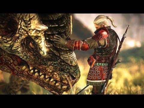 THE WITCHER 2 - Dragon Fight - All Endings: Kill, Spare, Saskia (Dark Mode)