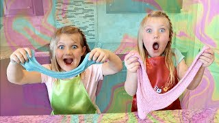 We Make GLITTER SLIME!