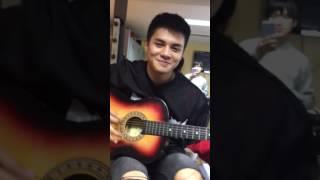 Ronnie Alonte plays guitar