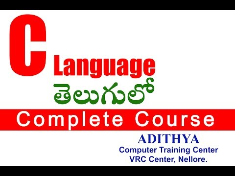 C Language in Telugu Part 9 (New Line Character (n)