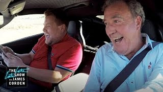 'The Grand Tour' Grand Racing Quiz(James takes 'The Grand Tour' hosts Jeremy Clarkson, Richard Hammond and James May to a test track for a time trial that has a quiz element.