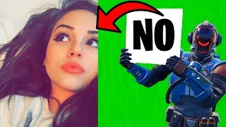 Saying 'NO' to my Fortnite Girlfriend.. (ends bad)