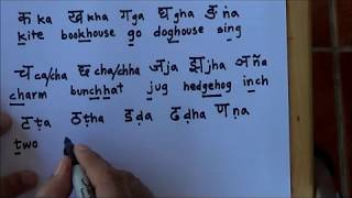 How to write Sanskrit - Part 1 - Single letters