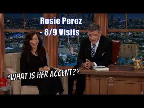 Rosie Perez - Her Accent Makes Everything Hilarious - 8/9 Visits In Chronological Order [360-1080p]