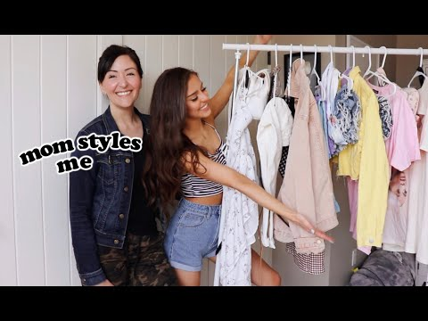 My Mom Styles My Outfits!
