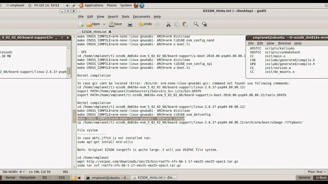 Starting with TI EZSDK C6A816x - Video Tutorial - Welldone