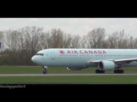 Air Canada Boeing 767-300 takeoff from Ottawa Macdonald-Cartier International Airport