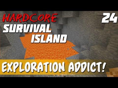 Ep. 24 - Addicted to Exploring!   Minecraft Hardcore Survival Island!