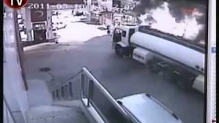 brave man drives burning petrol tanker away from neighbourhood