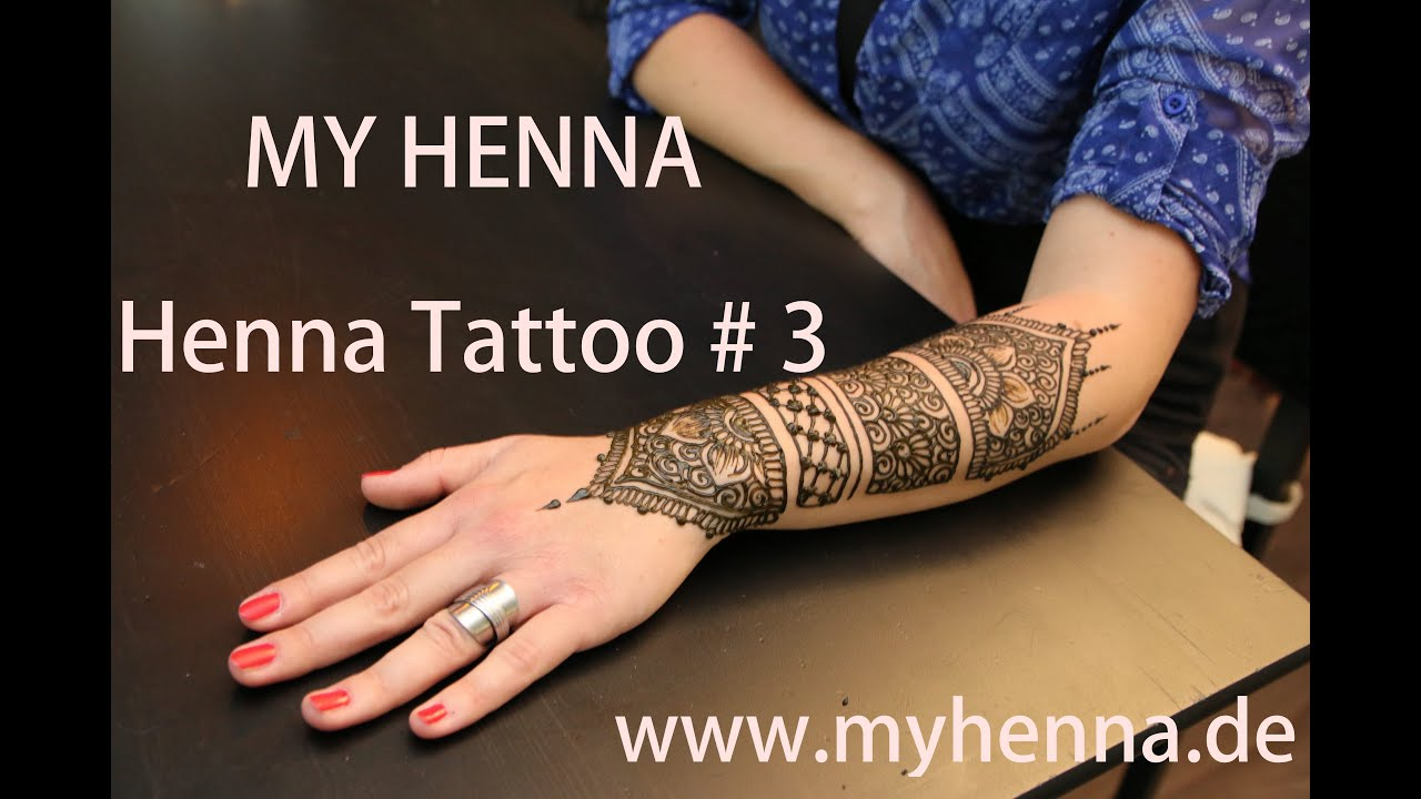 my henna henna tattoo 3 unterarm youtube. Black Bedroom Furniture Sets. Home Design Ideas