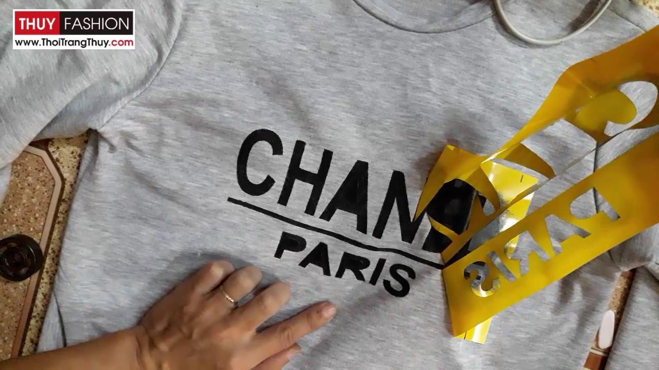 Cách in chữ lên áo bằng màu acrylic không phai | Thơi Trang Thủy | Print acrylic color