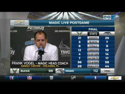 Frank Vogel - Orlando Magic vs. Milwaukee Bucks postgame 1/20/17