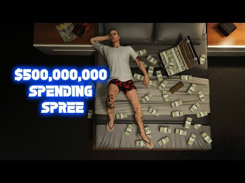 GTA 5 ONLINE $500,000,000 SPENDING SPREE BUYING EVERYTHING IN THE GAME (SHARKCARD GIVEAWAY)