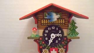 Vintage Swiss Chalet Miniature Novelty Cuckoo Wall Clock