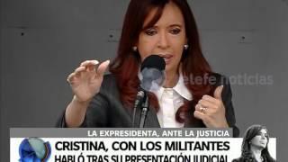 El discurso de Cristina frente a una multitud en Comodoro Py - Telefe Noticias