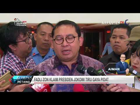 Fadli Zon Klaim Jokowi Tiru Gaya Pidato Prabowo Subianto