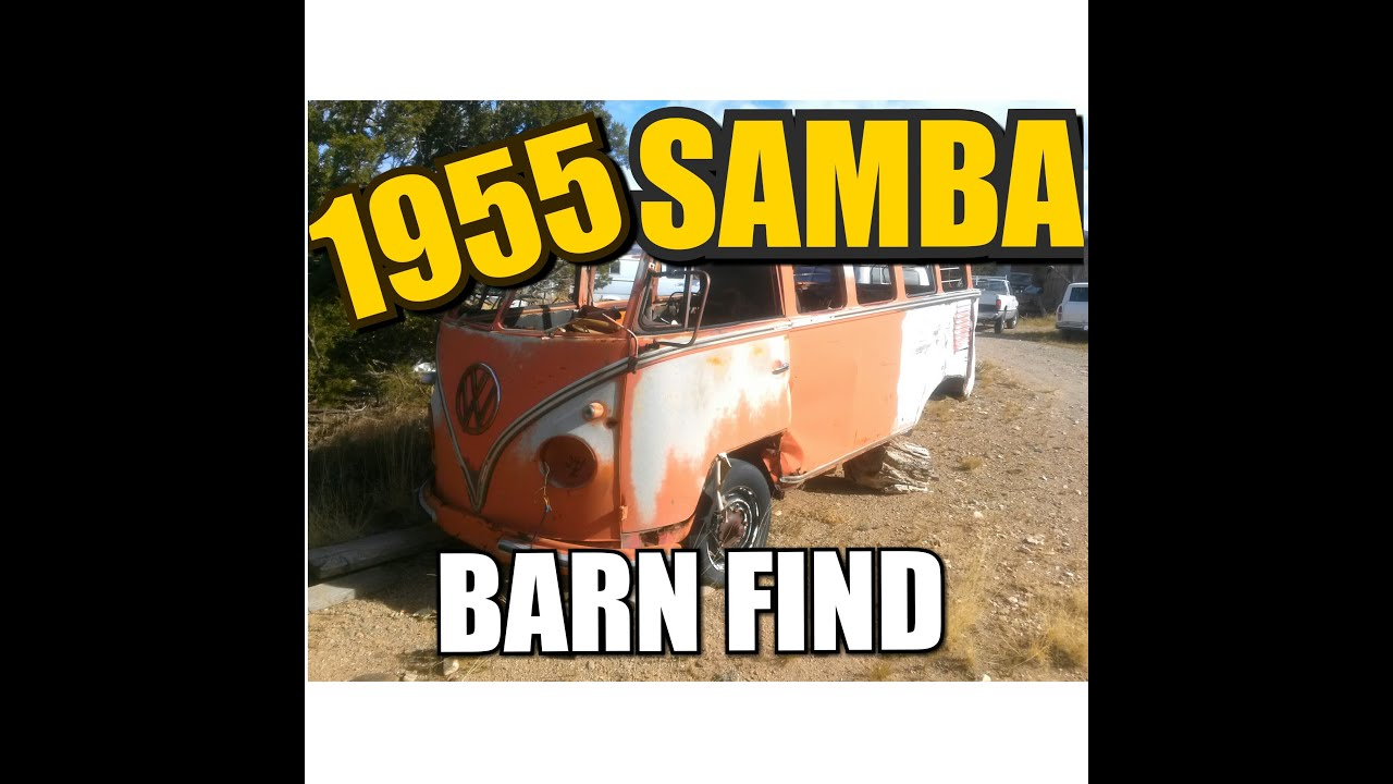 1955 Volkswagen Samba 23 Window Deluxe Bus Barn Find in ...