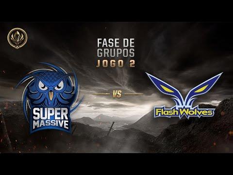 SuperMassive x Flash Wolves (Fase de Entrada - Jogo 2 - Dia 6) - MSI 2017