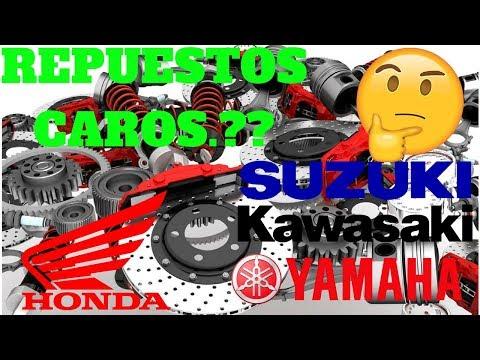 HONDA, YAMAHA, SUZUKI, KAWASAKI, | Cual vende los repuestos mas caros|  COMPARATIVA  Bajo cilindraje