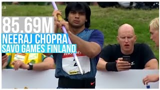 Neeraj Chopra Threw 85.69M in Savo Games at Lapinlahti Finland🇫🇮