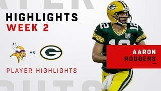 Aaron Rodgers' Week 2 Highlights vs. Minnesota