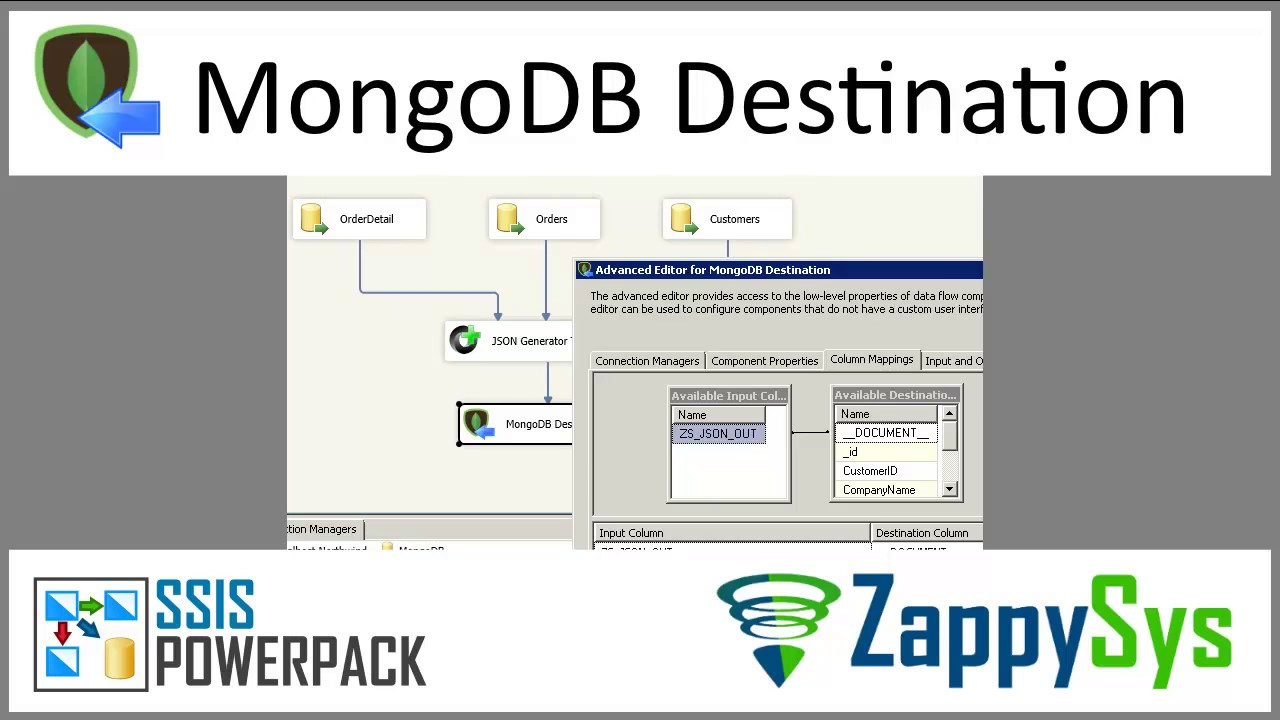 How to insert or update MongoDB array items using SSIS (Load JSON File, Use  $set, $push operator)