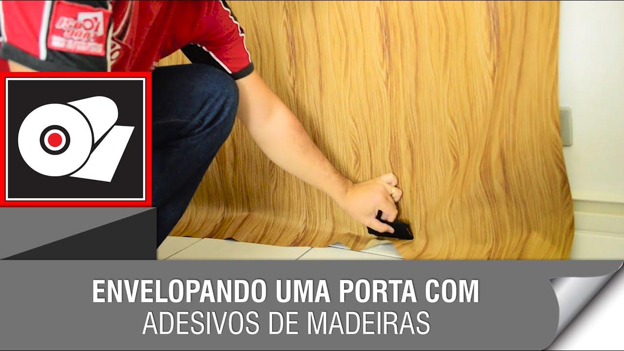 Adesivo De Natal Para Imprimir ~ Renovando uma porta com adesivo de madeira YouTube