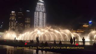 DOWNTOWN DUBAI - THE CENTER OF NOW! Love Dubai! a central business district in Dubai, United Arab Em