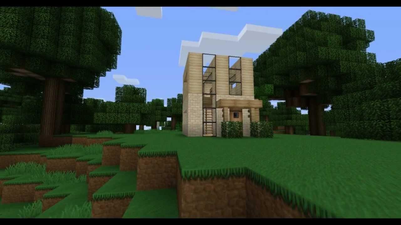 Minecraft minimalist house design youtube for Minimalist house minecraft