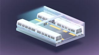 Subway Station | Speed isometric vector drawing | SketchUp + Affinity | 4K