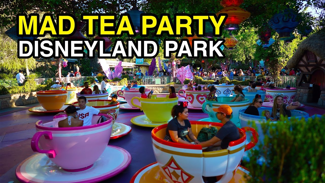 [4K] Mad Tea Party - Go for a Spin : Disneyland Park ...