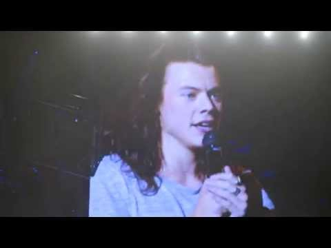 Harry booing at his family and friends and shouting at the Payne's - o2 London, OTRA 28.09.15