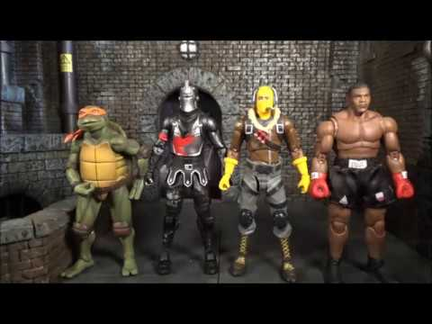 Download New Fortnite 7 Action Figures Raptor Black Knight Review