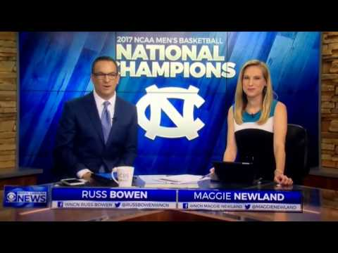 WNCN CBS North Carolina News at 5:00am open April 4, 2017