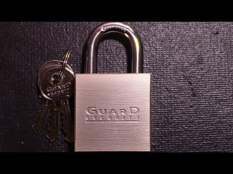 (061) Guard Security Commercial Grade Steel Padlock Picked/Gutted