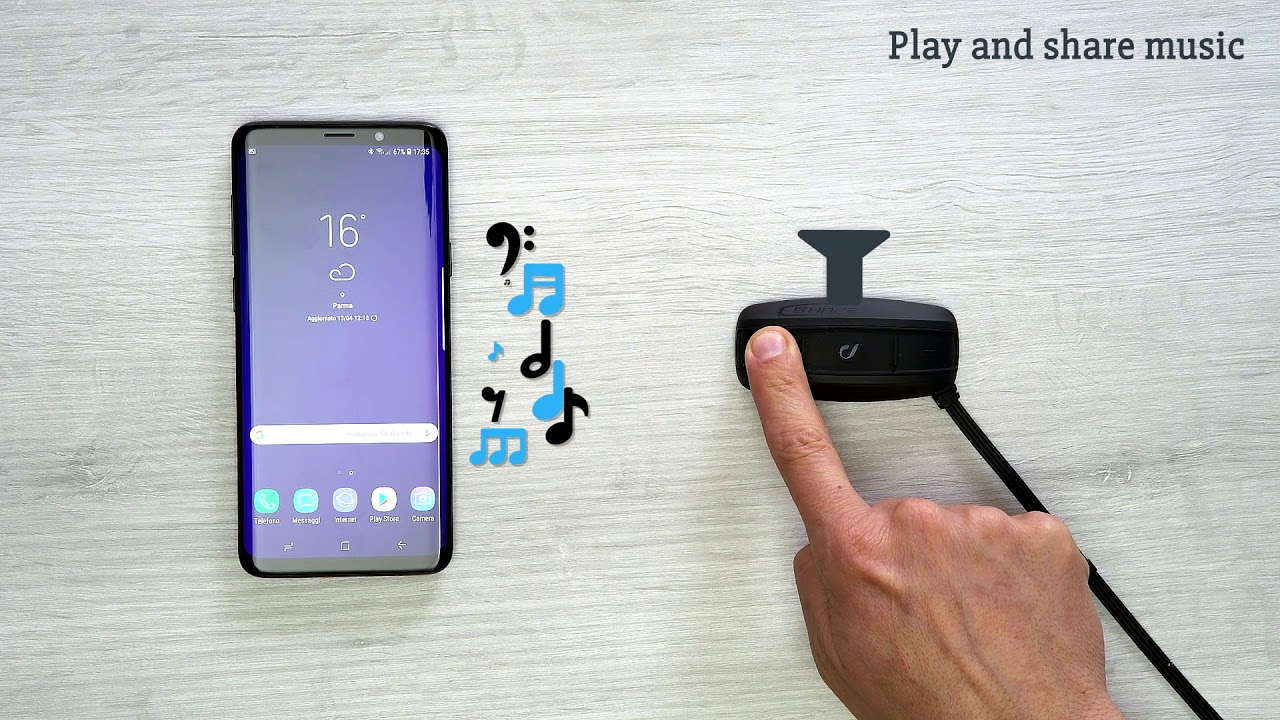 Interphone Shape, how to play share music