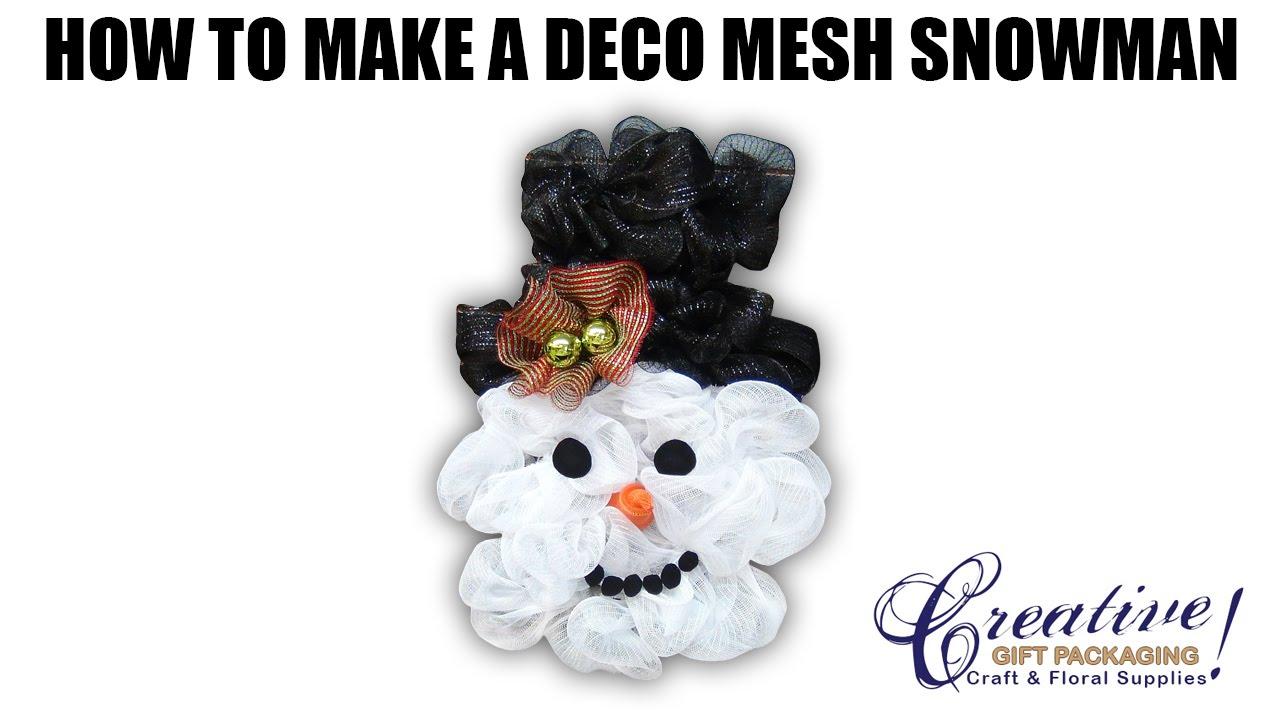 deco mesh snowman with new deco mesh snowman head u0026 hat kit youtube
