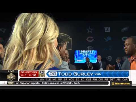 (HD) NFL 2015 Draft Selection - Rams Select Todd Gurley #10