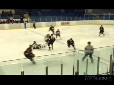 PJHL Highlight - Matt Wolthers big hit