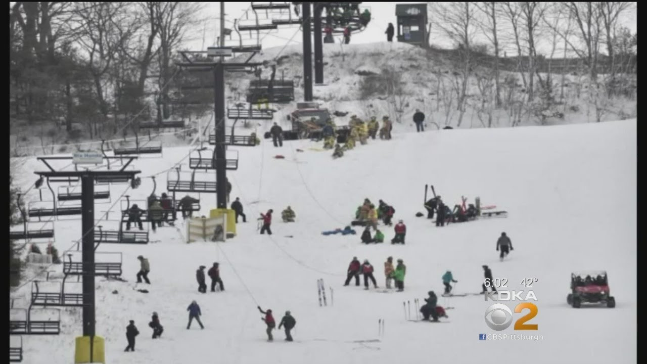 ski chair lift malfunction olive green covers at pennsylvania resort causes chairs to crash