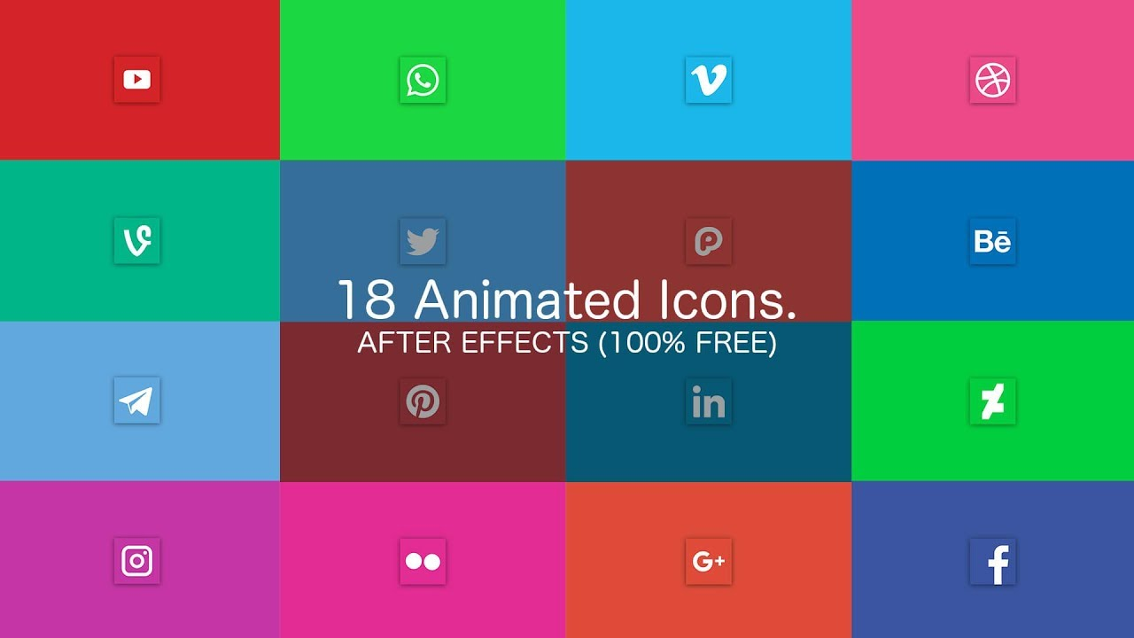 Social Media Icons Pack - After Effects (100% FREE) on Behance